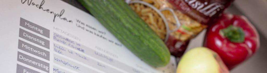 Wochenplanung für unsere Mittagsessens
