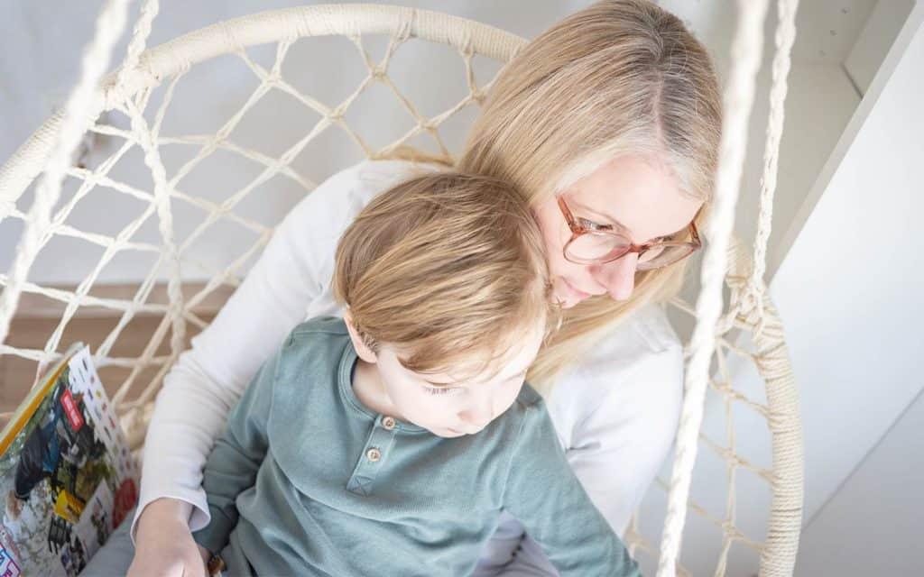 Selbstportrait: Mama und Kind