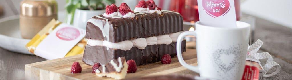 Easy peasy Himbeercreme-Torte ohne backen