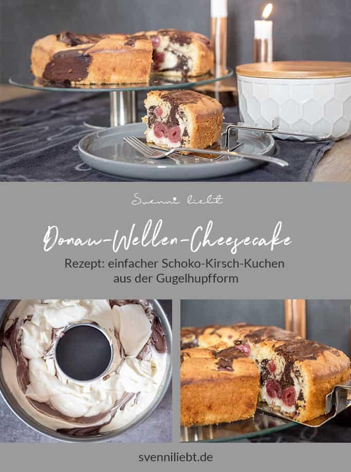 Merke dir das Rezept für den Donau-Wellen-Cheesecake auf Pinterest