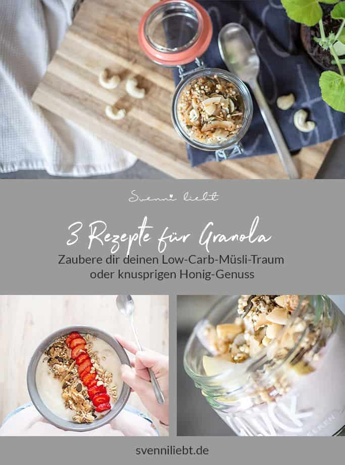 Merke dir die Granola- / Müsli- Rezpte auf Pinterest