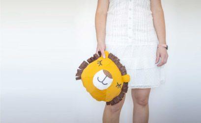DIY kuschliges Löwen Kissen alternative zum Kuscheltier