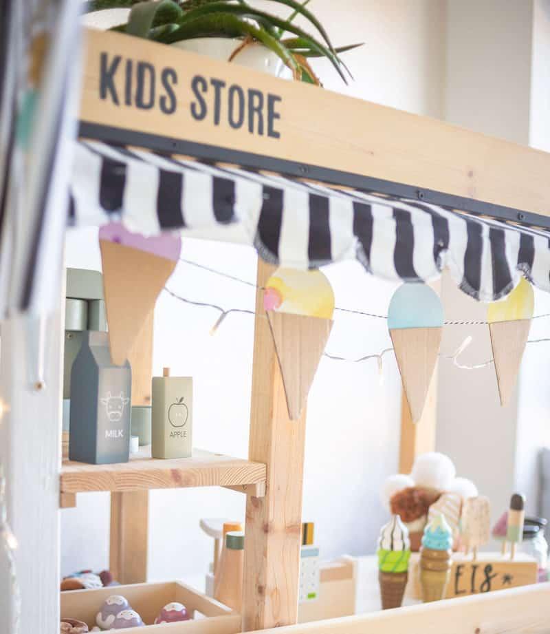 DIY Kaufladen und Marktstand mit Eis