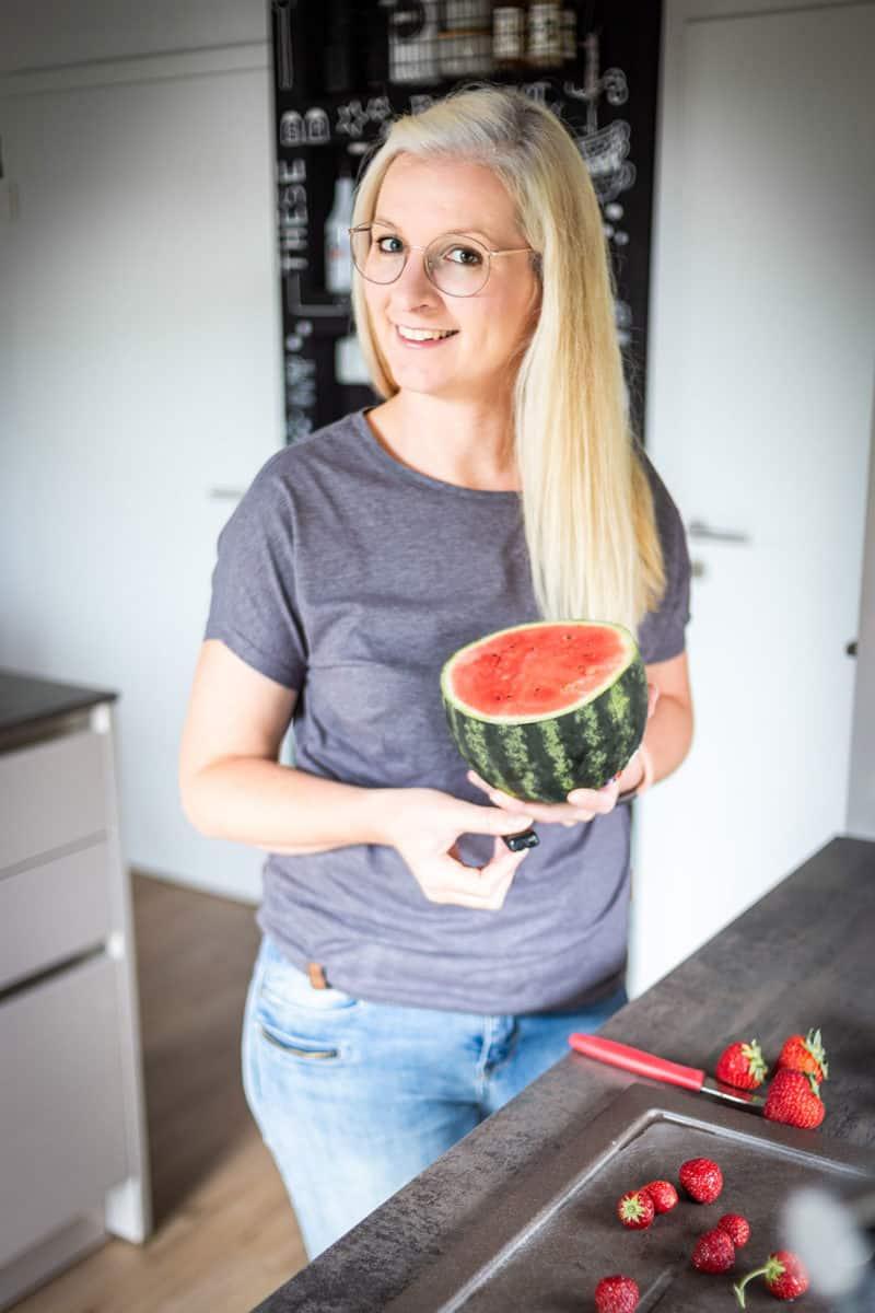 Wir lieben selbstgemachtes Eis - Erdbeere-Wassermelonen-Eis Rezept