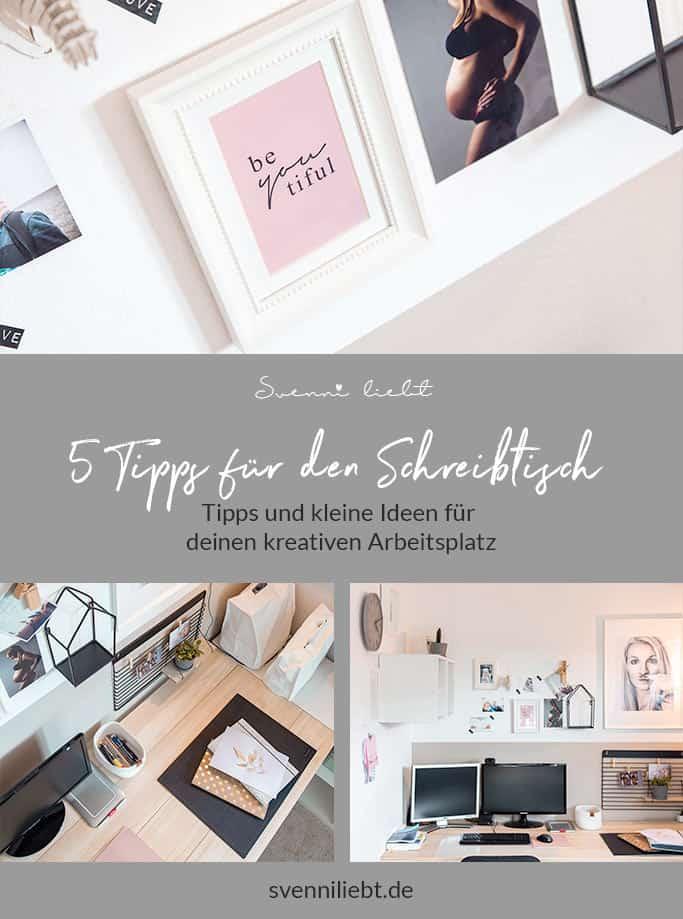 Merke dir die Tipps für deinen Schreibtisch auf Pinterest