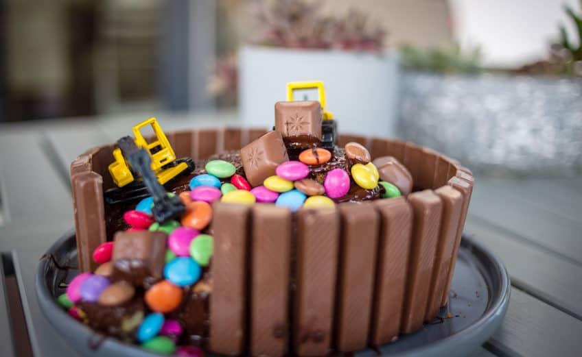 Baustellen Bagger Kuchen