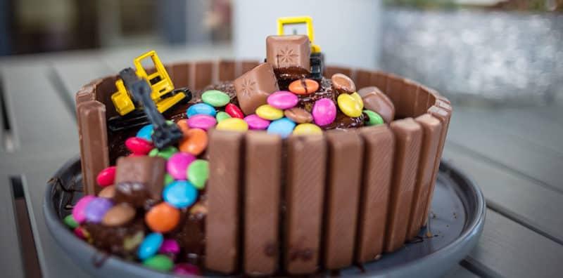 Baustellen-Kuchen für Geburtstagskinder