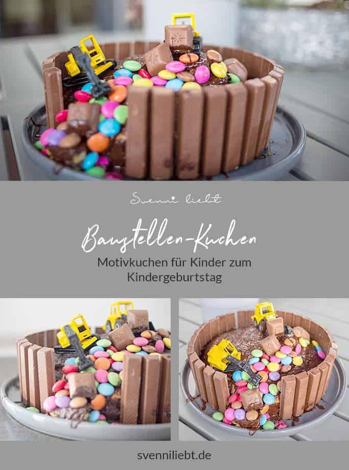 Baustellen-Kuchen für Geburtstagskinder auf Pinterest merken
