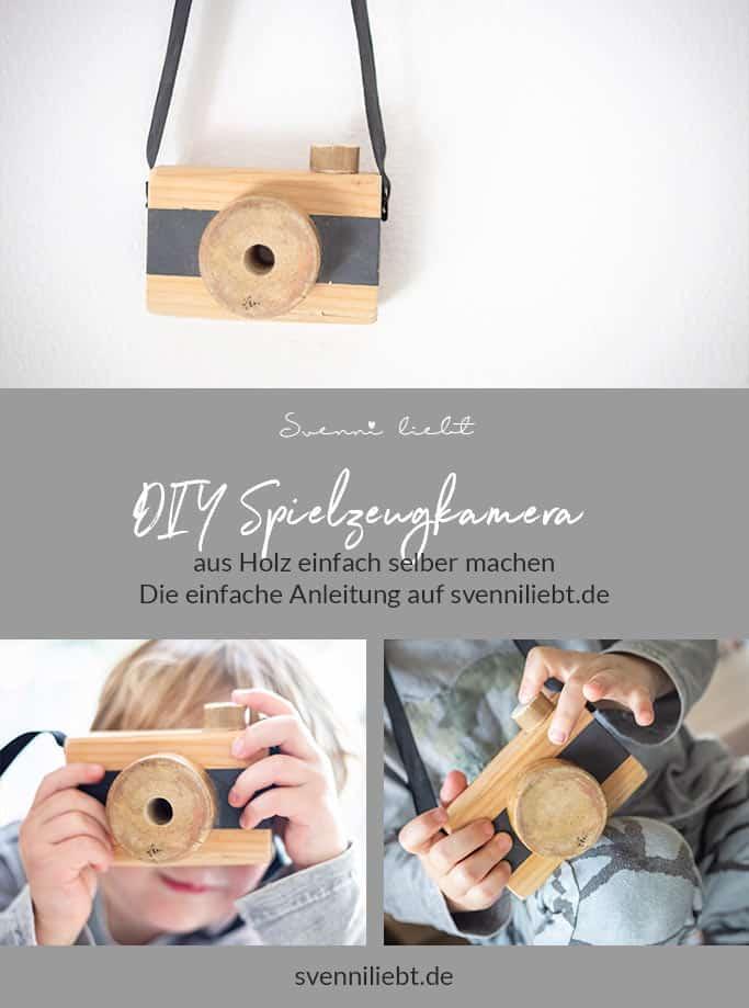 DIY Spielzeugkamera aus Holz auf Pinterest merken