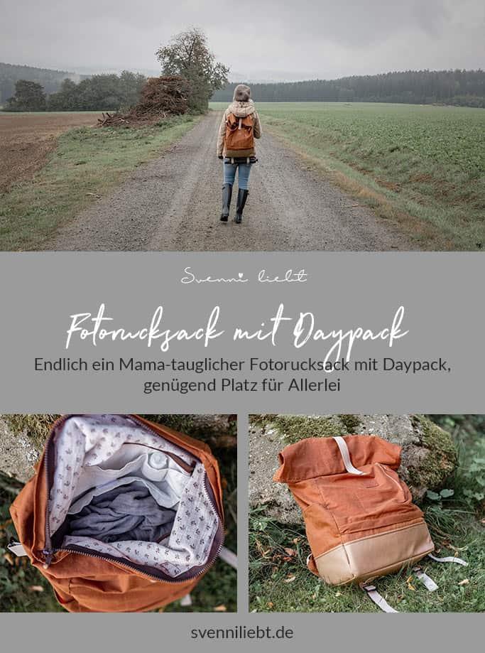 Merke dir die Idee mit dem DIY Fotorucksack mit geräumigem Daypack auf Pinterest
