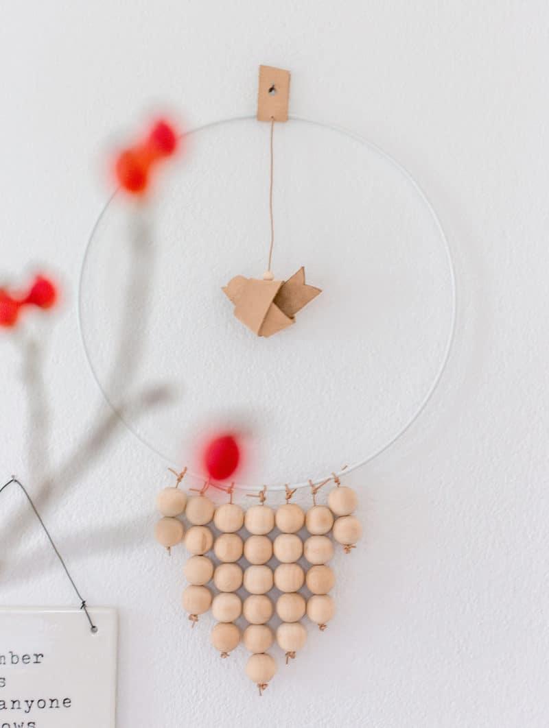 DIY Wandeko mit Strups Ring im Scandi Look