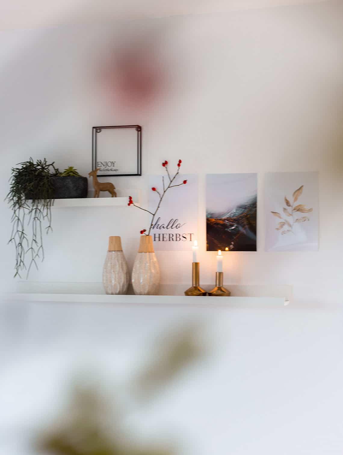 Herbststimmung im Wohnzimmer mit Herbstdeko