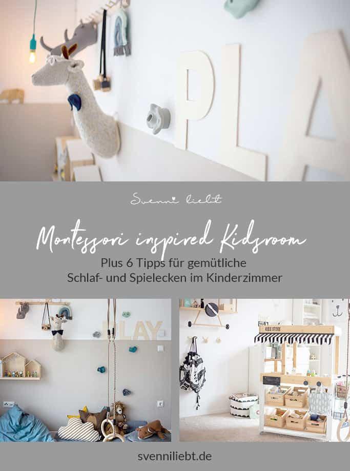 Montessori inspired Kidsroom Update – Plus 6 Tipps für gemütliche Schlaf- und Spielecken im Kinderzimmer auf Pinterest merken