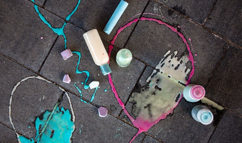 wunderschöne Kreide für die Straße - DIY Rezept