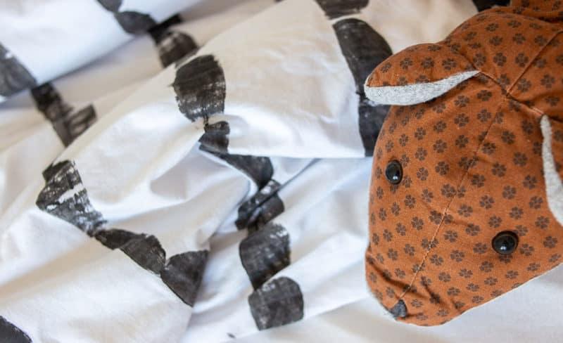 Stoffdruck DIY Bettwäsche modern und schlicht