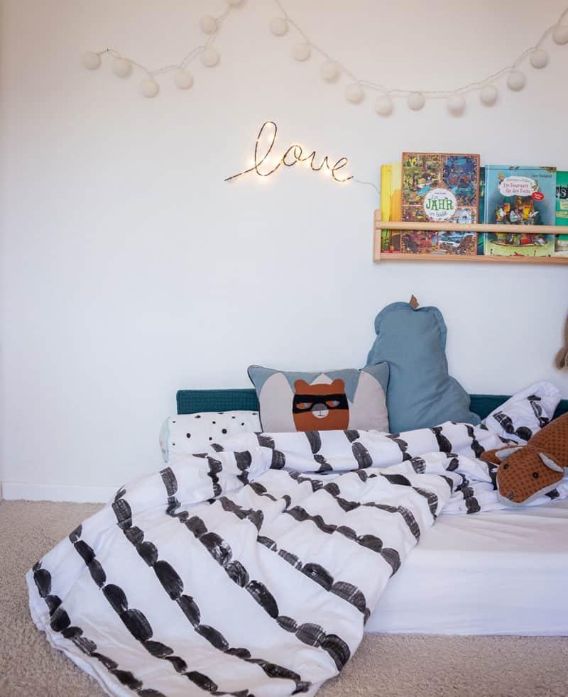 Stoffdruck DIY für Kinder – Bettwäsche mit Halbkreis Muster wie ferm Living
