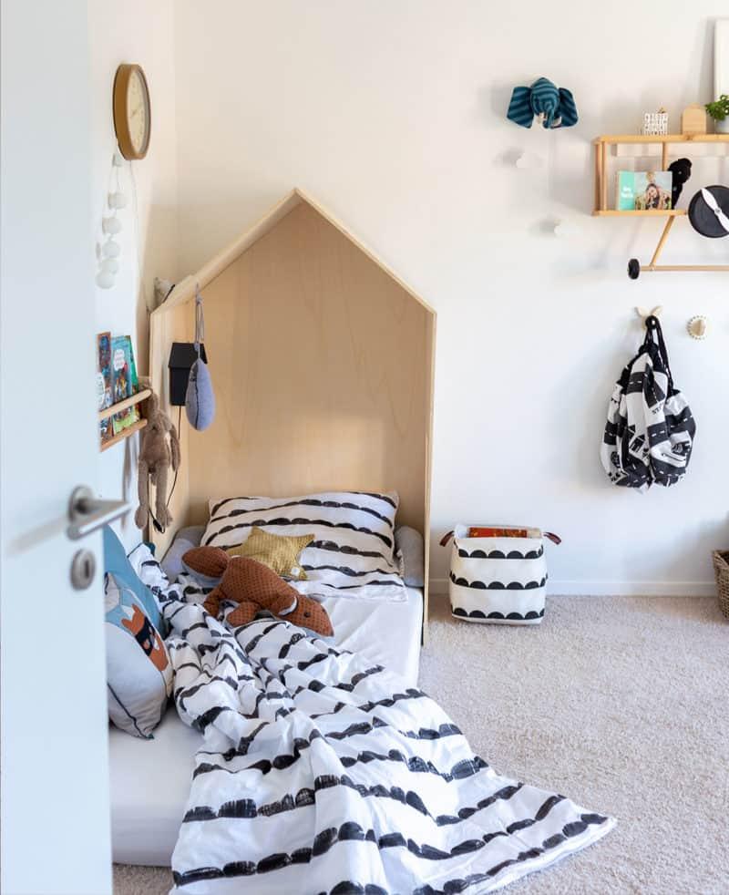 Anleitung für die Bettwäsche mit Stoffdruck im Halbkreis Muster - Kidsroom