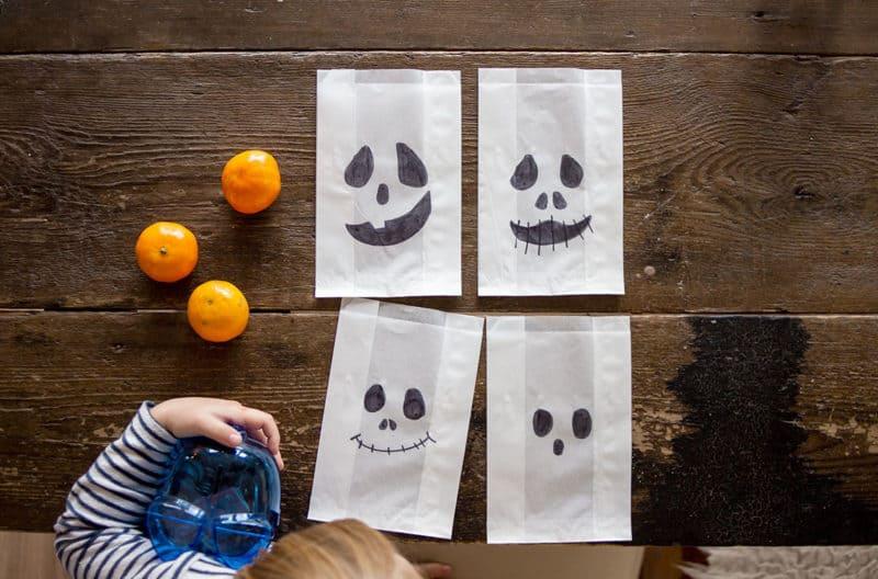 Gespenstergesichter für Halloween