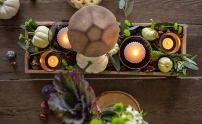 Tischdeko für den Herbst mit DIY-Elementen - hyggelige Esstisch Dekoration