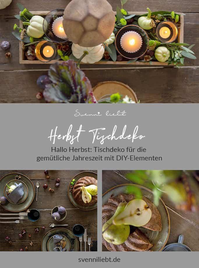 Merke dir die Ideen für die herbstliche Tischdekoration auf Pinterest