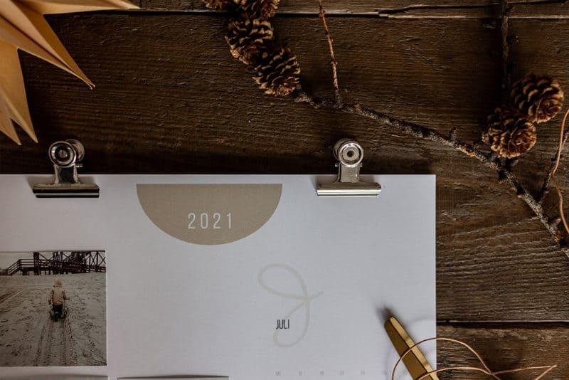 kostenloser Bastelkalender 2021 zum Ausdrucken