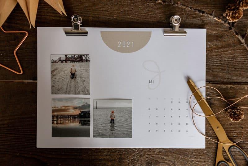 Freebie Fotokalender 2021 zum Ausdrucken kostenlos als Printable