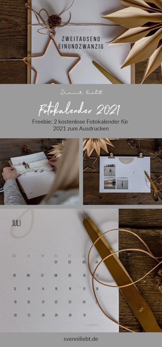 Merke dir den kostenlosen Fotokalender 2021 auf Pinterest