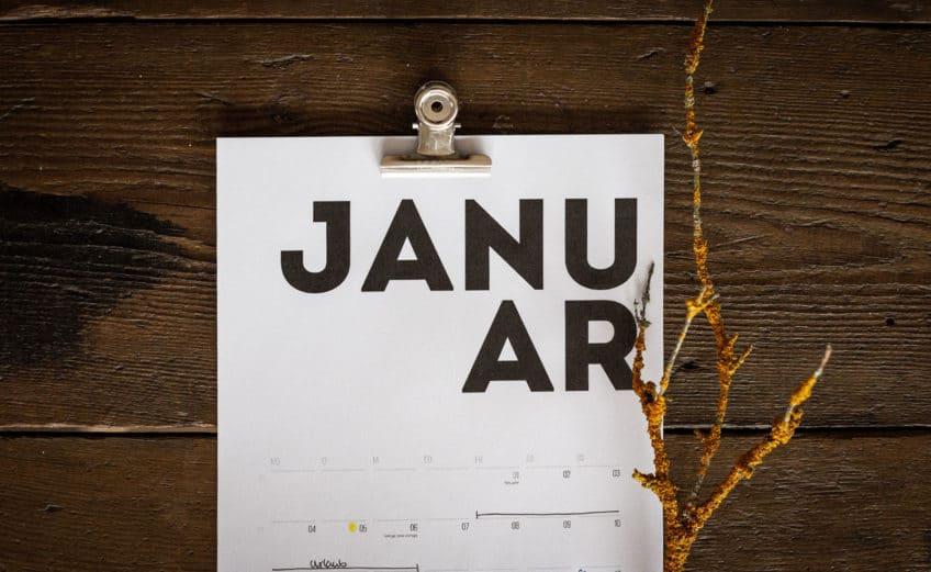 Freebie: Kostenloser Typographie-Kalender 2021 zum Ausdrucken
