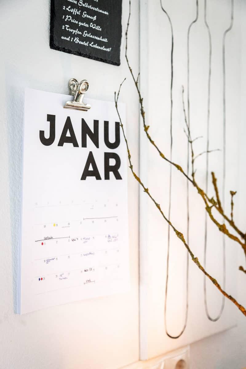 Typographie Kalender 2012 kostenloser Download zum Ausdrucken