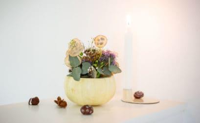 DIY Kürbisvase - Blumenvase aus Kürbis