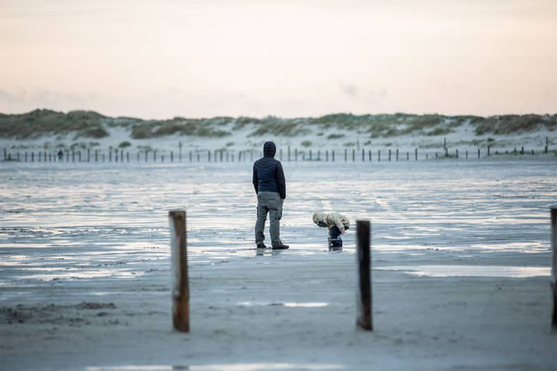 Sonnenuntergang am Strand in St. Peter-Ording