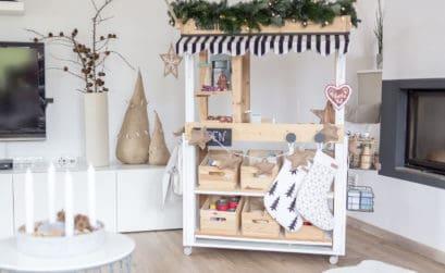 DIY Kaufladen - Ein Weihnachtsmarktstand