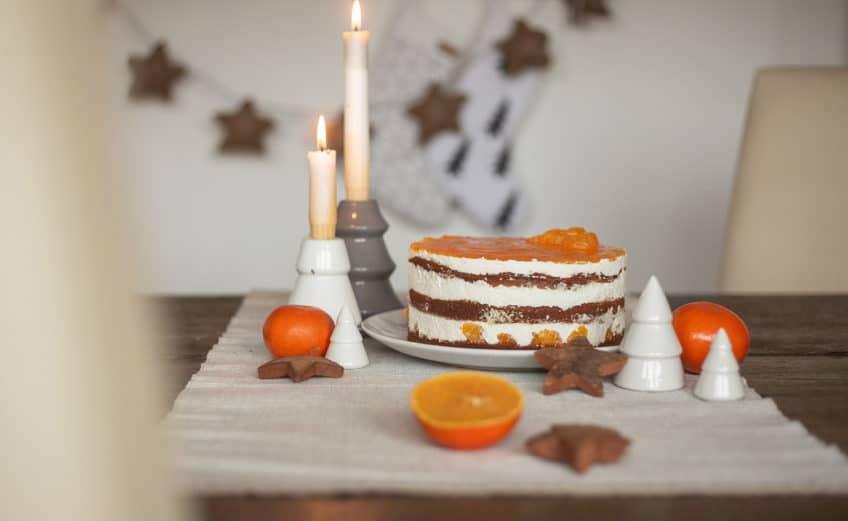 Rezept Mandarinen-Käse-Sahne Torte mit Spekulatius