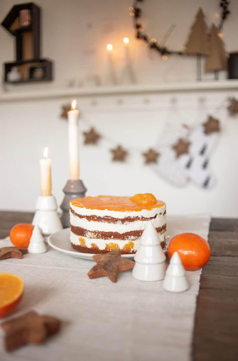 Rezept: Mandarinen-Käse-Sahne-Torte mit Spekulatius
