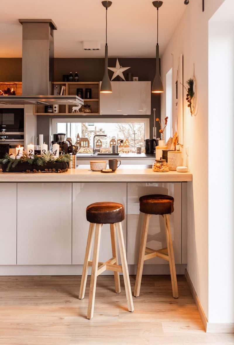 Natur im Winter ins Haus holen - Weihnachtsdeko Küche