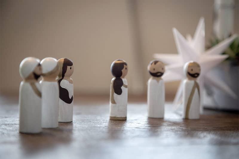 Kirppenfiguren aus Holzstab-Rohlingen basteln