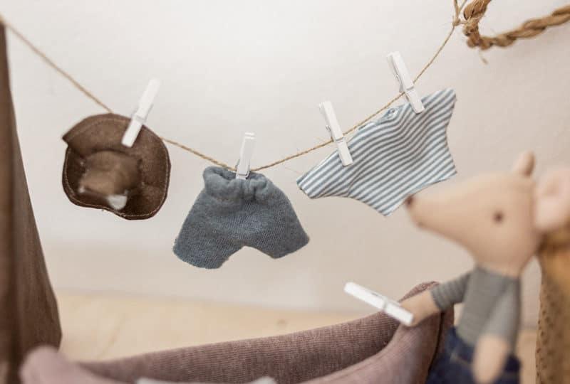 Hut, Pullover und Hose für die Maileg Maus nähen