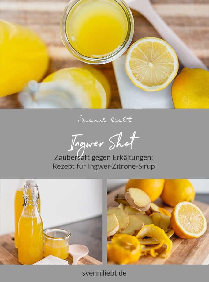 Erkältungselixiers Ingwer-Zitrone-Sirup mit Rezept auf Pinterest merken