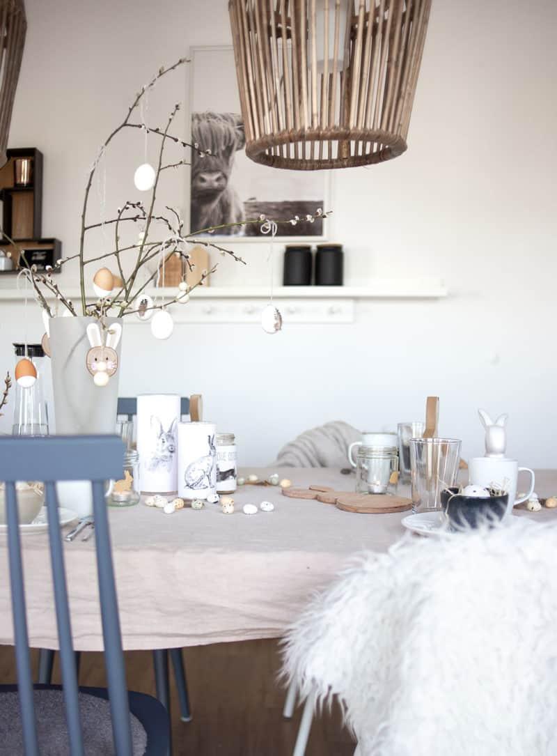 7 Ideen für moderne und schlichte DIY Osterdeko aus Naturmaterialien – Inspiration für den Ostertisch