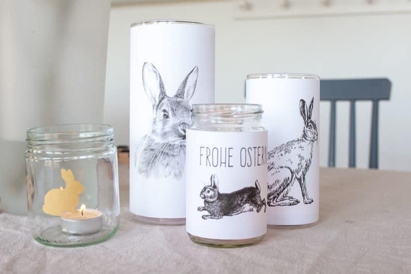 Einfache DIY Windlichter zu Ostern