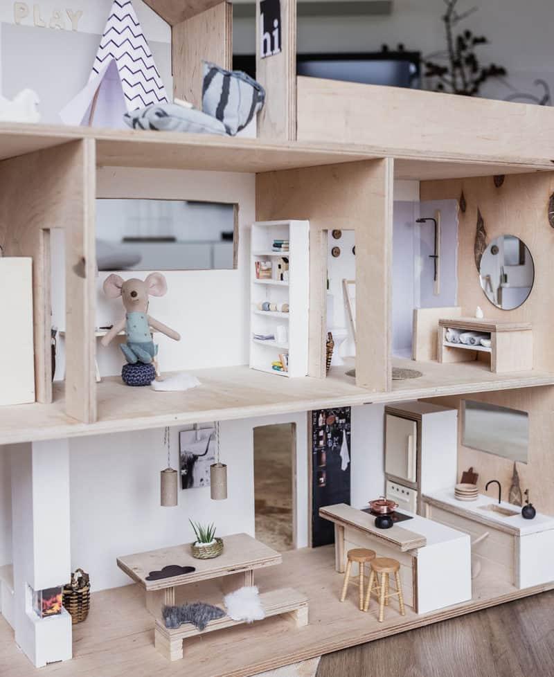 DIY Puppenhaus im Maßstab1:12 einfach selber machen