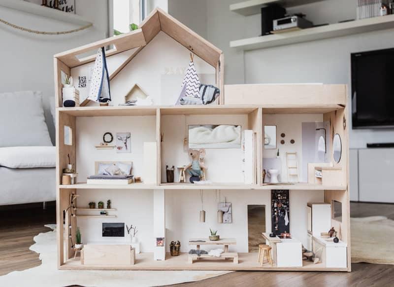 DIY Puppenhaus im Maßsstab 1:12 selber bauen