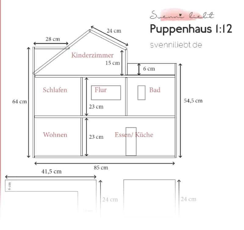 Bauplan DIY Puppenhaus