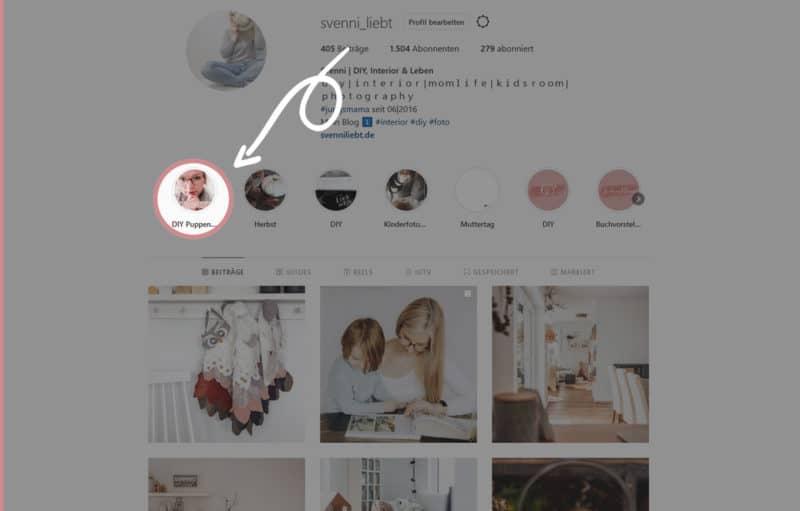 Einblicke ins DIY Puppenhaus auf Instagram