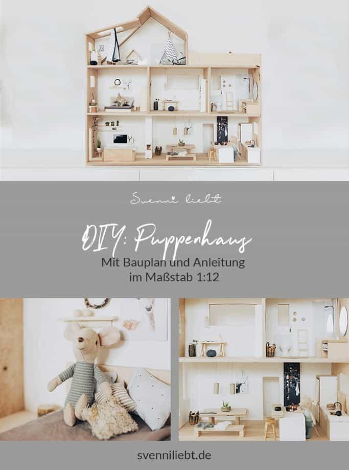 DIY Puppenhaus 1:12 mit Bauanleitung und Bauplan auf Pinterest merken