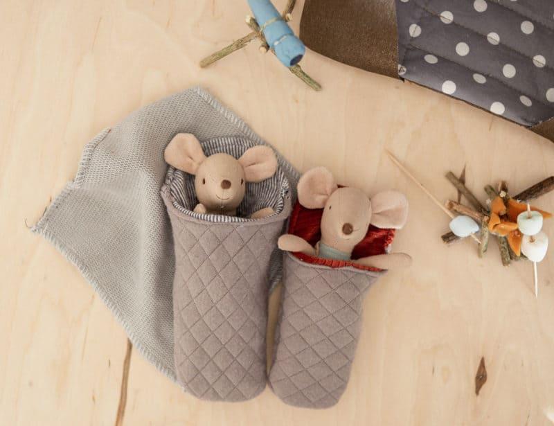 Schlafsäcke für Maileg Mäuse mit Schnittmuster nähen