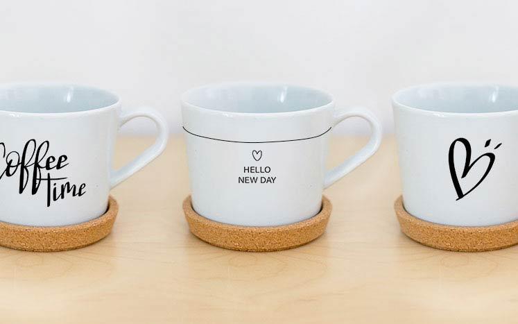DIY selbst bemalte Tasse mit Porzellanstift