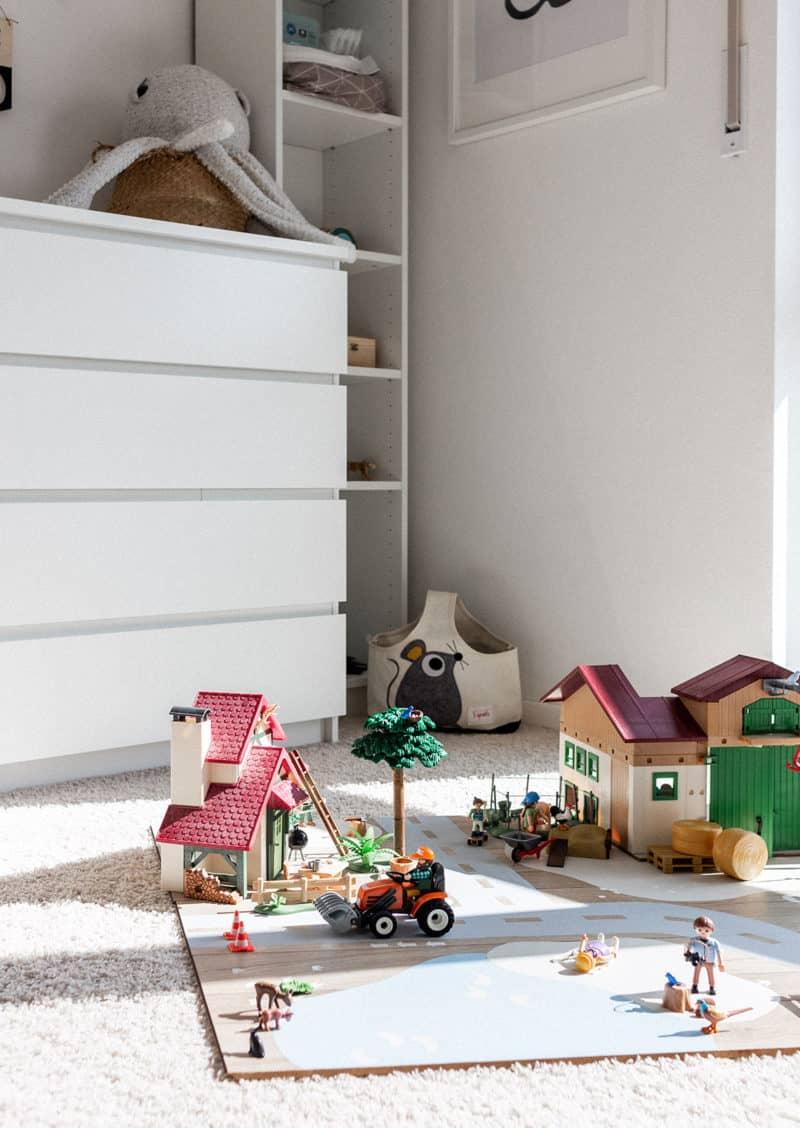 Bauecke mit Strassenteppich für Playmobil