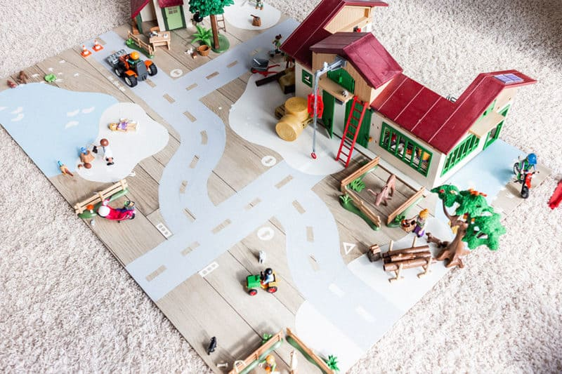 DIY Spielwelt , Straßenteppich oder Bauecke für Kinder