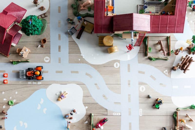Playmobil-Spielwelt – eine DIY Bauecke im Kinderzimmer